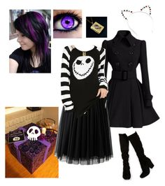 """""""Santa's going to wear a black dress"""" by darksnowwitch ❤ liked on Polyvore featuring Faith"""