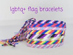"""Thanks for the kind words! ★★★★★ """"Got the asexual, transgender and aromantic bracelets! They came on time and I wear them literally everywhere now! Lgbt Bracelet, Pride Bracelet, Friendship Bracelets, Transgender, Lgbtq Flags, Custom Flags, Genderqueer, Recycling, Pet Tags"""