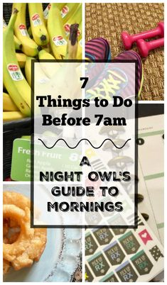 """I'm what you would call a """"Night Owl"""". I thrive in the evening. My energy level is up. I can multitask like no other. But come morning, I'm a different person entirely. If you can relate, my Night Owl Guide to Mornings: 7 Things to Do Before 7am might just be for you. I've got a gift card giveaway too for two! (Sponsored) #nightowl #healthyliving #lifestyle #lifelessons"""