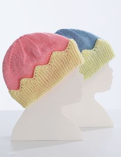 Yarnspirations.com - Bernat King/Queen Baby Hats - Patterns | Yarnspirations