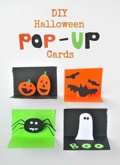 DIY Halloween Pop up Cards from Artchoo!