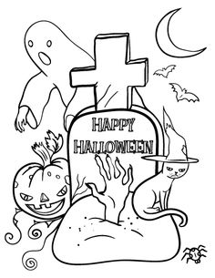 printable halloween coloring page free pdf download at httpcoloringcafecom