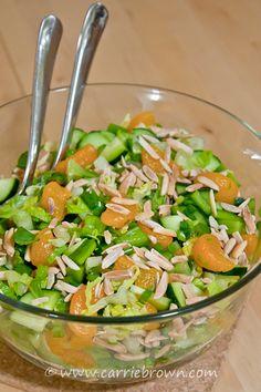 #SANE Mandarin Almond Salad  |  www.carriebrown.com  |  www.sanesolution.com