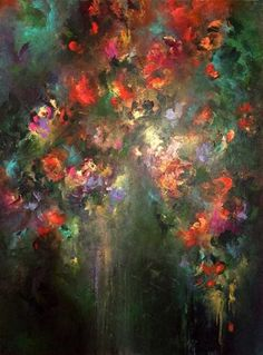 Original abstract paintings and a collection of limited edition luxurious silk scarves by Jaanika Talts. Abstract Canvas Art, Oil Painting Abstract, Devian Art, Surrealism Painting, Contemporary Abstract Art, Abstract Flowers, Surreal Art, Large Art, Beautiful Paintings