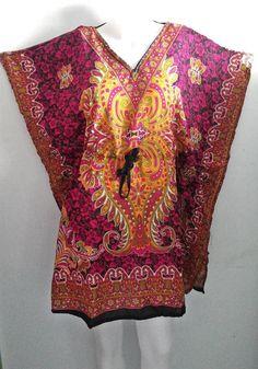 women sundress,bohemian dress, batwing dress,Tunic dress, summer dress, beach dress,pink color vintage dress, Free Size dress,spring fashion by doucefleur on Etsy