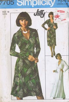 7705 simplicity Wrap Dress Sewing Pattern
