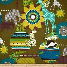Alexander Henry Africa Mbali Safari Pool Fabric