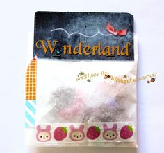 Wonderland: #charms con il #cernit #packaging #envelope #gift #washi #tape