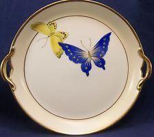 Nippon cobalt butterfly platter