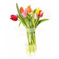 13 lalele multicolore splendide Glass Vase, Home Decor, Decoration Home, Room Decor, Interior Decorating
