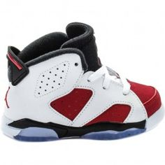 cheap for discount 4b8ea 8a38d Air Jordan Retro 6 Carmine Infant Toddler Lifestyle Shoe  (WhiteCarmineBlack) Limit 1 Per Customer