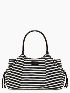 kate spade nylon stripe stevie baby bag.