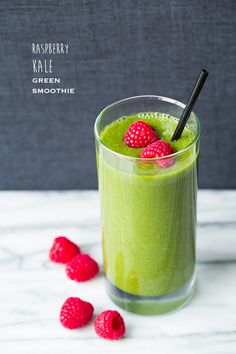 Raspberry Banana Smoothies and Raspberry Kale Green Smoothies (recipe for 2 different smoothies)