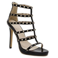 Rome Stiletto Heel and Rivet Design Women's Sandals #>=#>=#>=#>=#> Click on the pin to check out discount price, color, size, shipping, etc. Save and like it!