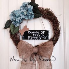 Dog wreath! Follow my Instagram wreaths_by_reneed to see more :)