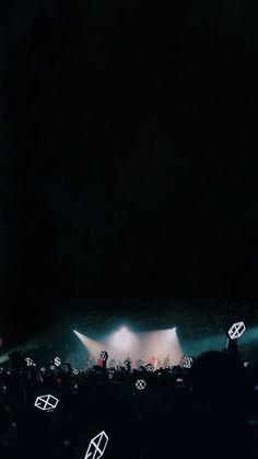 EXO on stage wallpaper Baekhyun, Lightstick Exo, Exo 12, Kpop Exo, Park Chanyeol, K Pop, Exo Songs, Exo Music, L Wallpaper