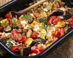One-pot dinners: 6 comforting veggie casseroles ready in 30 minutes or less Healthy Cooking, Healthy Eating, Healthy Recipes, Fast Recipes, Greek Recipes, Light Recipes, Mozzarella, One Pot Dinners, Vegetable Casserole