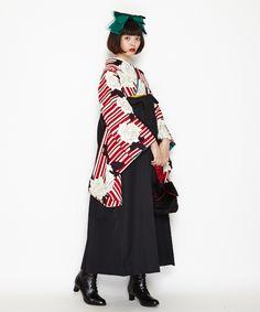 Harajuku Fashion, Japan Fashion, Love Fashion, Girl Fashion, Fashion Design, Japanese Costume, Japanese Kimono, Estilo Harajuku, Kabuki Costume