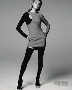 Versace look in Harpers Bazaar KZ - October '15  Stylist annakatsanis