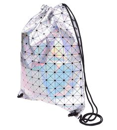 Stylish Drawstring Bag - Rainbow