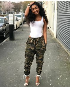 all black fashion women's Camo Outfits, Trendy Outfits, Girl Outfits, Summer Outfits, Camouflage Fashion, Camo Fashion, Fashion Outfits, Fashion Clothes, Fashion Boots