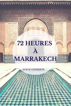 72 hours in Marrakech: the best addresses in the ocher city - 72 hours in Marrakech: the good addresses of the ocher city / Yonder Week End Marrakech, Africa Destinations, Travel Destinations, Travel Around The World, Around The Worlds, Hotels, Places To Visit, Vacation, Travelling
