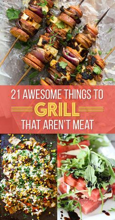 21 Things Every Vegetarian Should Grill This Summer grilling recipes;recipes for grilling;grilling tip; Vegetarian Grilling, Le Diner, Grilled Vegetables, Bbq Vegetables, Best Veggies To Grill, Grilled Fruit, Grilled Salmon, Grilled Meat, Cooking Turkey