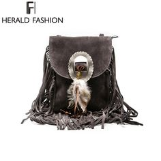 Women PU Leather Bag Shoulder Famous Crossbody Bags Fringe Tassel Messenger  Bags. MuotikäsilaukutTyyli Ja MuotiNaisten MuotiLaukutMuoti ad42983b3e