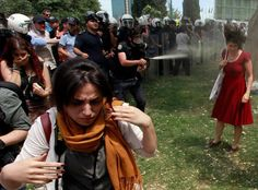 How a 'Lady in Red' became the symbol of Turkey's unrest  A photograph from Istanbul resonates across the world