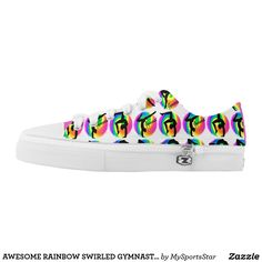 AWESOME RAINBOW SWIRLED GYMNASTICS SNEAKERS Watch your Gymnast dazzle, sparkle and shine in our cool and colorful Gymnastics sneakers. Only available here at Zazzle! https://www.zazzle.com/collections/gymnastics_sneakers-119394231113334715?rf=238246180177746410&CMPN=share_dclit&lang=en&social=true #Gymnastics #Gymnast #WomensGymnastics #Gymnastsneakers #Gymnasticssneakers #Lovegymnastics