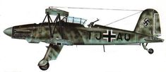 "Aircraft supposed equip the Carrier Graf Zeppelin. ""FIESELER FI-167"""