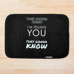 They gonna know by Maxdash   Redbubble Bathroom Mat, Woman Clothing, Told You So, Pizza, Clothes For Women, Women's Clothes, Outerwear Women, Womens Fashion, Woman Outfits