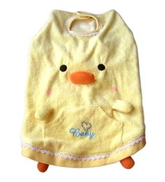 Anit Accessories Squeaker Beak Duck Tank Top Dog Costume Apparel, Medium 16-inches $7.60