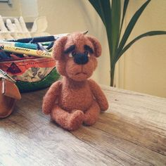 still missing some parts. #teddy #teddybear #feltcraft #felt #filz
