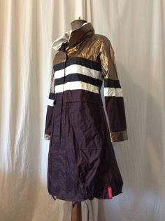 Gold-aubergine-black raincoat for Autumn HAVRAN Black Raincoat, Unique Outfits, Autumn, Gold, Clothes, Outfits, Clothing, Fall Season, Kleding