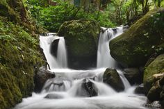 Scenic Creek at Jumog Waterfall, Central Java, Indonesia