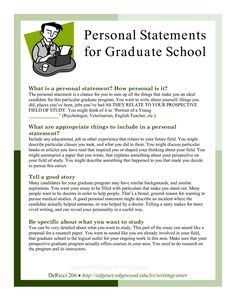 free personal statement examples for graduate school