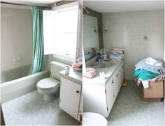 Before & After: A Moldy and Outdated Bathroom Gets an Elegant Update  - HouseBeautiful.com