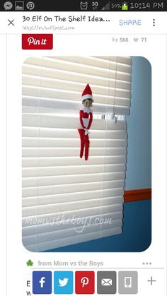 on the Shelf ideas Elf on the Shelf ideas - in the window. :))))) in my cheap blinds.haElf on the Shelf ideas - in the window. :))))) in my cheap blinds. What Is Elf, To Do App, Bad Elf, Cheap Blinds, Elf Auf Dem Regal, Elf Magic, Elf On The Self, Naughty Elf, Buddy The Elf