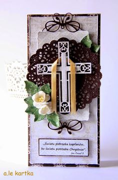 Baptism Cards, Baptism Gifts, Christian Cards, All Holidays, Communion, Cardmaking, Easter, Viria, Homemade