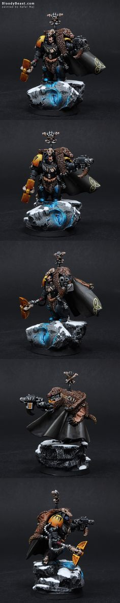 Space Wolves Wolf Priest painted by Rafal Maj (BloodyBeast.com)