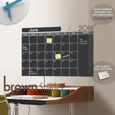 Calendario de pared de pizarra 2016 venta de la por brownshades