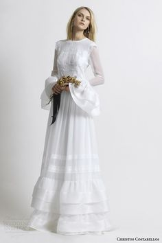 Christos Costarellos 2014- long sleeve wedding dress