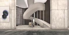 Stair Railing, Stairs, Railings, Yabu Pushelberg, Space Images, Interior Design, Building, Shenzhen, Public