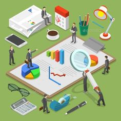 Buy Financial Audit Flat Isometric Vector Concept by TarikVision on GraphicRiver. People surrounded by some office stuff are investigating and discussin. Vector Graphics, Vector Free, Free Photos, Free Images, Internal Audit, Isometric Art, Business Icon, Business Company, People Icon