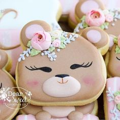Happy National Sugar Cookie Day! woodland bear