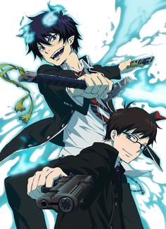Yukio Okumura & Rin Okumura - Ao no Exorcist / Blue Exorcist Ao No Exorcist, Blue Exorcist Anime, Blue Exorcist Cosplay, Rin Okumura, Manga Anime, Anime Art, I Love Anime, Awesome Anime, Sword Art Online