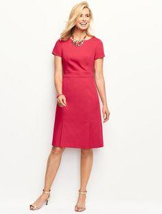 Lightweight Twill A-Line Dress - Talbots