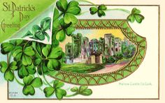 Patrick's Day Vintage Ireland Castle Postcard created by stpatricksdaygear.