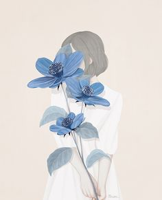 치유(Blue Flower) / 2015 / Digital Painting / ⓒ ENSEE - Choi Mi Kyung
